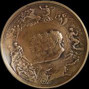 Antique Italian Bronze plate, 19th century