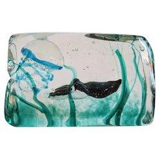 Vintage Barbini glass block aquarium, Murano ca. 1950