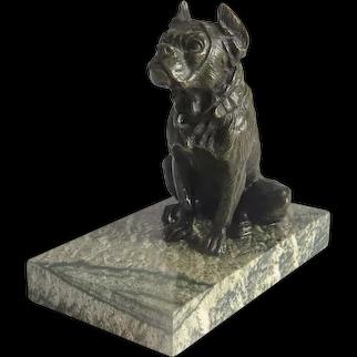 Antique Vienna Bronze dog paperweight, late 19th century