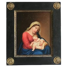 Antique Painting of the Holy Virgin, 19th century