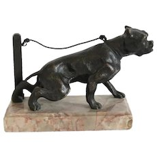 Antique Vienna Bronze dog figure, early 20th century