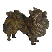 Antique Vienna Bronze dog figure, early 20 th century