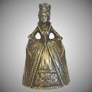 Victorian Gilt Bronze dinner bell, 19th century