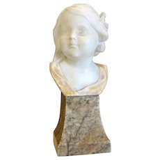 Alabaster sculpture by Victor H. Seifert ,signed and dated 1949