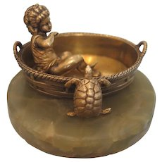 Antique French Gilt Bronze paperweight, 19th century