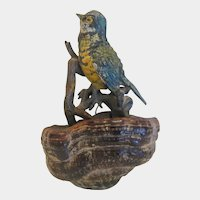 Antique Vienna Bronze bird figure, 19th century