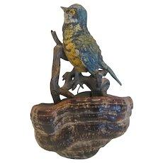 Antique Vienna Bronze bird figure, 19th century