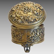 Antique Gilt Bronze casket, Vienna 19th century