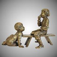 Antique Vienna  Bronze paperweight ,19th century