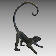 Antique Vienna Bronze figure of a monkey, 19th century