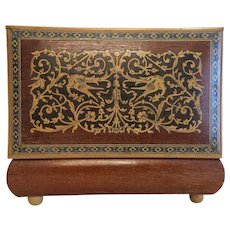 Antique Italian wooden box with inlays, 19th century