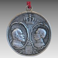 Antique Memorial coin pendant, dated 1913
