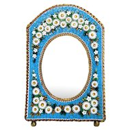 Antique Micro Mosaic frame ,set in brass, 19th century