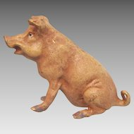 Vienna Bronze figure of pig, signed Bergmann, early 20th century