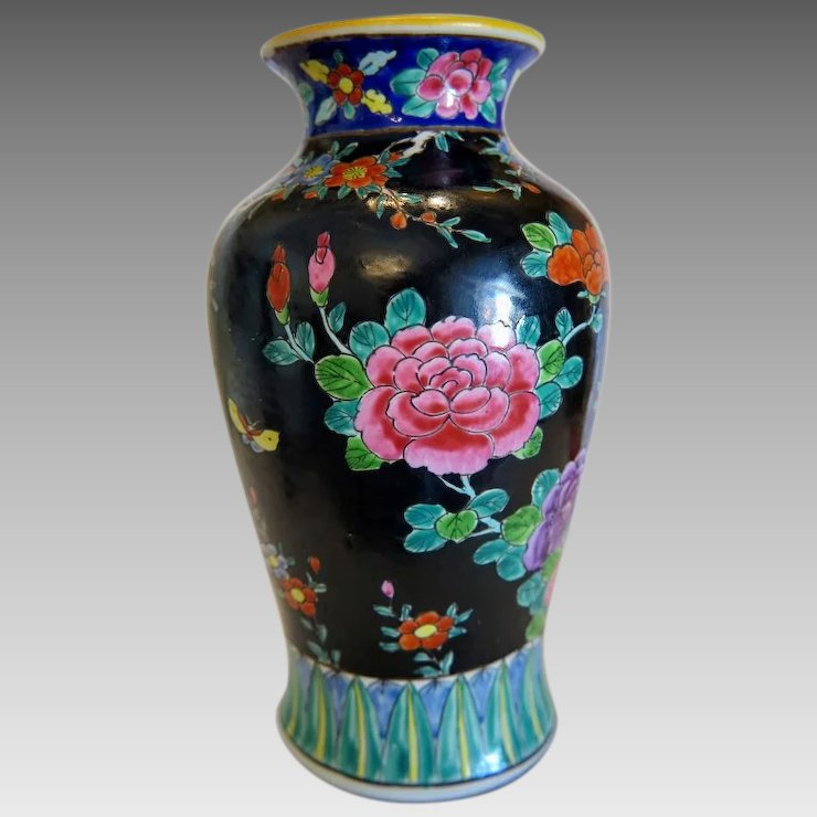 Vintage Japanese Pottery Vase Ca 1930 Chateau Antique Ruby Lane