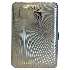 Antique Sterling silver cigarette case, 19th century