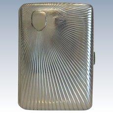Antique Sterling silver cigarette case, 19th century