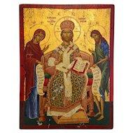 Greek Orthodox Icon, tempera on wood, 20th century