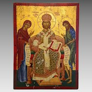 Greek Orthodox Icon, tempera on wood, 20th century