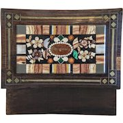 Antique Pietra Dura box, Bohemia 19th century
