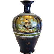 Antique Turn Royal Vienna porcelain vase by Ernst Wahliss (  1837 – 1900),ca. 1890.