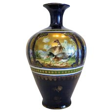Antique Turn Royal Vienna porcelain vase by Ernst Wahliss (  1837 – 1900),ca. 1890.