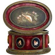 Antique Florentine  Pietra Dura box, 19th century