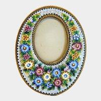 Antique Micro Mosaic flower frame, 19th century