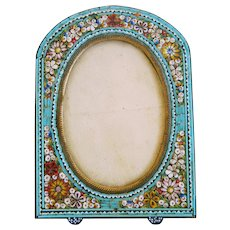 Antique Micro Mosaic frame, 19th century