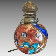 Antique Murano glass scent bottle, early 19th century