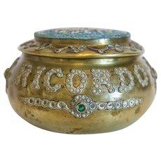 Antique Micro Mosaic box, gilt metal, 19th century