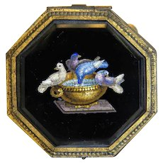 Antique Roman Micro Mosaic box, 19th century