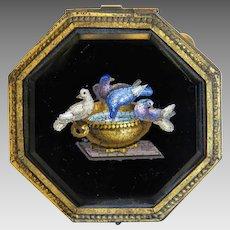 Antique Roman Micro Mosaic box, 19th century