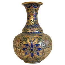 Vintage Chinese cloissone vase,early 20th century