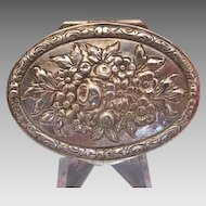 Antique silver 800 pill box, 19th century
