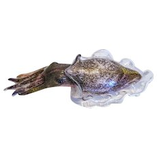 Vintage Murano  cuttlefish sculpture, second half of the 20th century