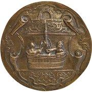 Antique gilt Bronze paperweight, 19th century