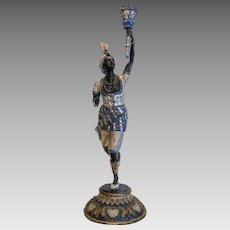 Antique Vienna Blackamoor Bronze figure , late 19th century