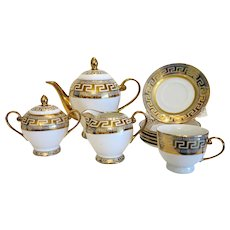Russian porcelain tea set for four, ca. 1950