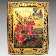 Russian Icon depicting the Archangel Michael, early 20th century