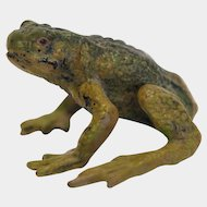 Vienna Bronze frog figure, signed Bergmann, early 20th century