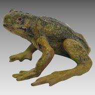 Vienna Bronze frog figure, signed Bergmann, early 20th century