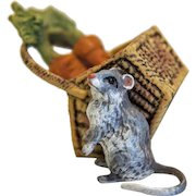 Vintage Vienna Bronze mouse figure , signed Fritz Bermann, 20th century