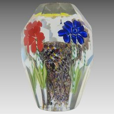 Antique Bohemian glass paperweight, 19th century