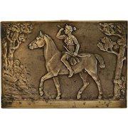 Antique Bronze relief plaque, 19th century