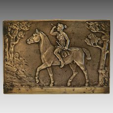 Antique Bronze relief plaque, 19th century
