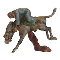 Antique Vienna Bronze figure of a riding Arab, 19th century