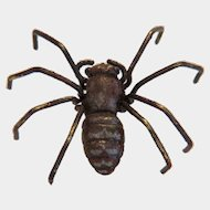 Antique Vienna Bronze spider, hand crafted ,19th century