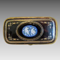 Antique Roman Micro Mosaic set in a celluloid etui , ca.1900