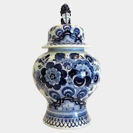 Delft blue porcelain vase Royal Goedewaagen,  hand painted, 20th century